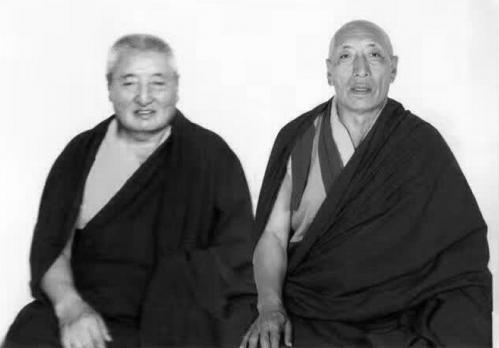 Maîtres au Tibet - Truku Ayung rinpoche et lama kalsong gyaltsen rinpoche